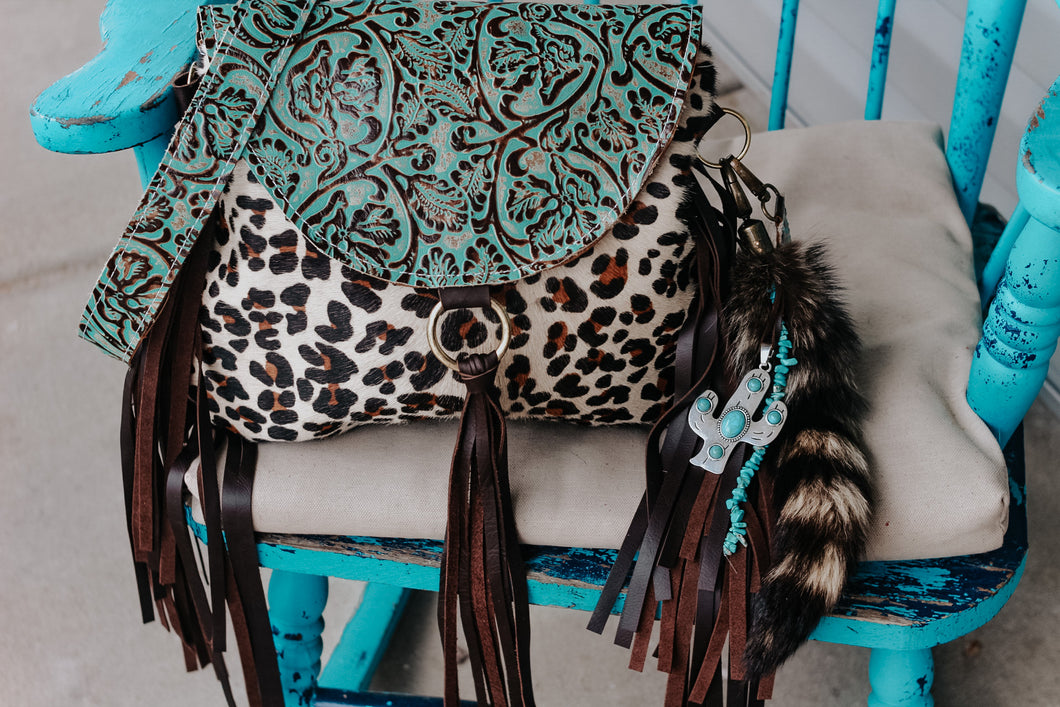 Turquoise Cowboy Tool and Leopard Juney