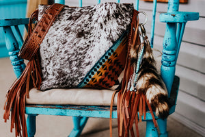 Pendleton with Speckled Cowhide and Sepia Croc Dolly