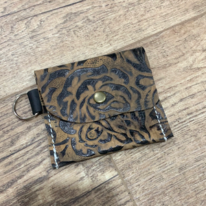 Tan/Brown Roses Card Holder