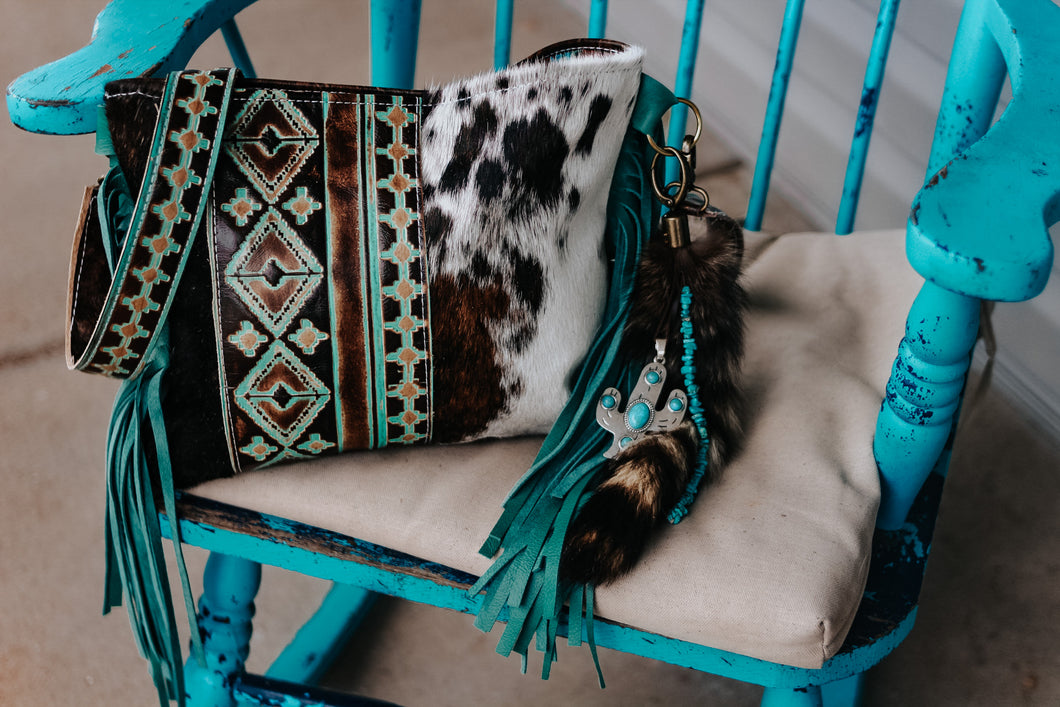 Native American Turquoise Brown Tri-Color Reba