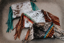 Load image into Gallery viewer, Sunset Pendleton with Speckled Cowhide Maybelle