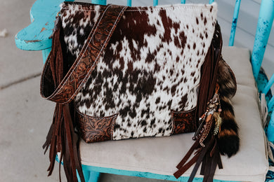Brown Cowboy Tool and Speckled hide