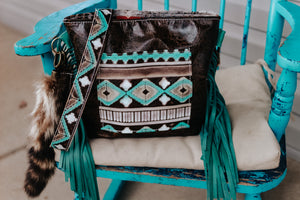 Paper Italy Leopard with Turquoise Cocoa Strap Dolly