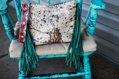 Paper Italy Python with Red/Turquoise Navajo Small Dolly