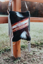 Load image into Gallery viewer, Pendleton and Long Hair black/white hide Crossover Backpack