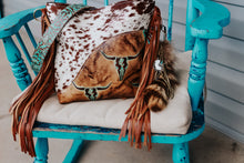Load image into Gallery viewer, Tan/Turquoise Longhorn with Brown Speckled Dolly