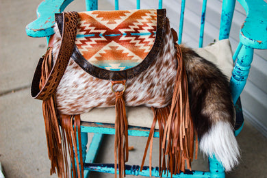 Sunset Pendleton with Speckled Cowhide Juney
