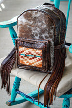 Load image into Gallery viewer, Beth Dutton Pendleton and Brown Sepia Croc Classic Backpack