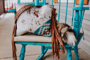 Bright Pendleton with Speckled Cowhide and Croc Reba