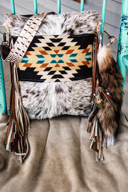 Pendleton with Turquoise and Speckled Cowhide Backpack Crossover