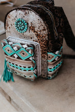 Load image into Gallery viewer, Paper Italy Leopard with Native American Turquoise Cocoa Classic Backpack