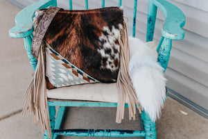 Pendleton Ice Blue with Speckled Cowhide and Sepia Cowboy Tool Dolly