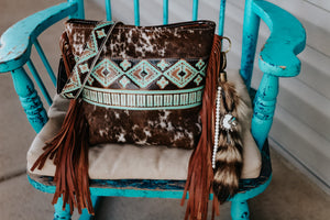 Turquoise Brown Native American Speckled Dolly