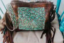 Load image into Gallery viewer, Tan Turquoise Longhorn with Speckled Small Dolly