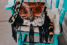 Load image into Gallery viewer, Longhorn Juney with Turquoise Laredo and Speckled Cowhide Juney