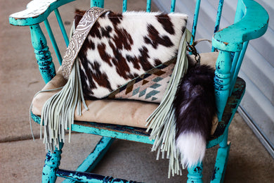 Ice Cool Pendleton with Tri Color cowhide Small Dolly