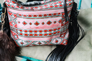 Red/Turquoise Navajo with Black Speckled Small Dolly