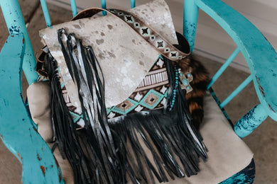 Silver Acid Wash and Turquoise Cocoa Native American