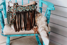 Load image into Gallery viewer, Turquoise Brown Navajo with Light Speckled Cowhide Dolly
