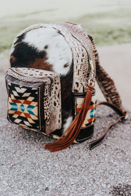Black and Tan Pendleton Classic Backpack