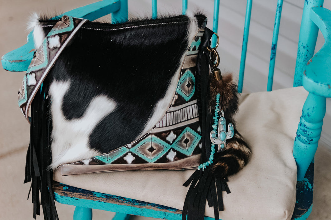 Turquoise Cocoa Native American Black and White Dolly