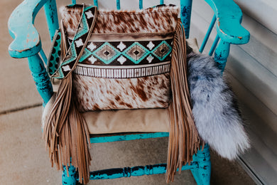 Turquoise Cocoa Native American with Red Speckled Dolly