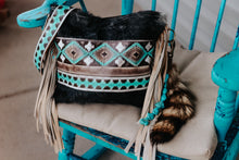 Load image into Gallery viewer, Turquoise Cocoa Black and White Hide Reba