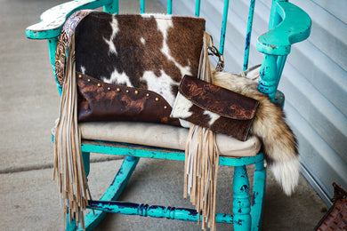 Mustang and Tri-Color Cowhide Mustang Kindall