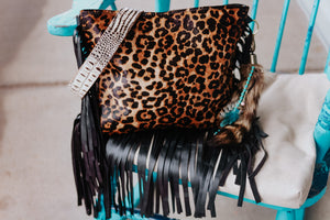Detailed Leopard and Black Gator REVERSIBLE Reba
