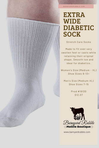 Extra Wide Diabetic Socks