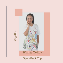 Load image into Gallery viewer, Stylish Top, Short Sleeve - Open Back