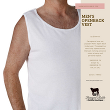 Load image into Gallery viewer, Men's Cotton Undervest, Open Back