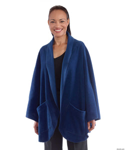 Womens Cozy Pocket Cape Fleece Shawl - Warm Poncho Bed Shawl With Pockets Or Wheelchair Poncho Shawl