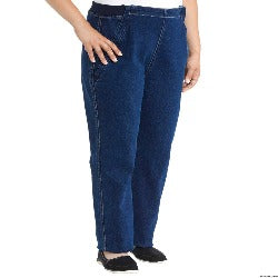 Side Zipper Soft Jean Pants - Women's