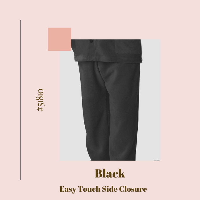 Fleece Sweatpants - Side Easy Touch Closure