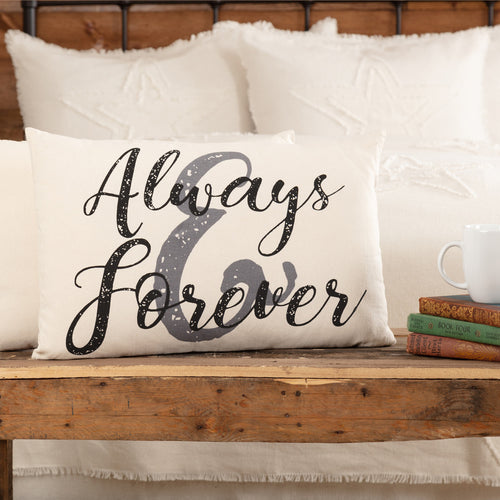 CASEMENT NATURAL ALWAYS AND FOREVER PILLOW 14X22