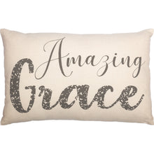 Load image into Gallery viewer, CASEMENT NATURAL AMAZING GRACE PILLOW 14X22