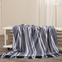 Load image into Gallery viewer, Chambray Stripe Chenille Throw 70x55