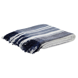 Chambray Stripe Chenille Throw 70x55