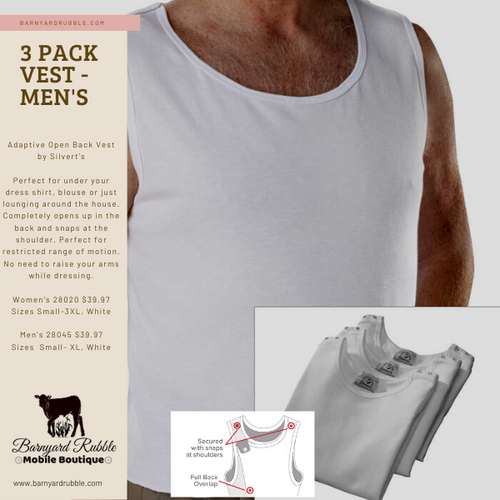 3 Pack - Men's Open Back Vest