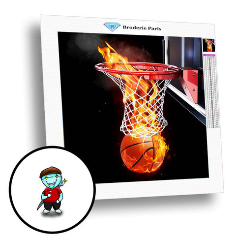 Broderie Diamant Basketball