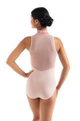 Haley Leotard with Crushed Velvet