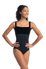 Square Neck Leotard with Velvet (102V)