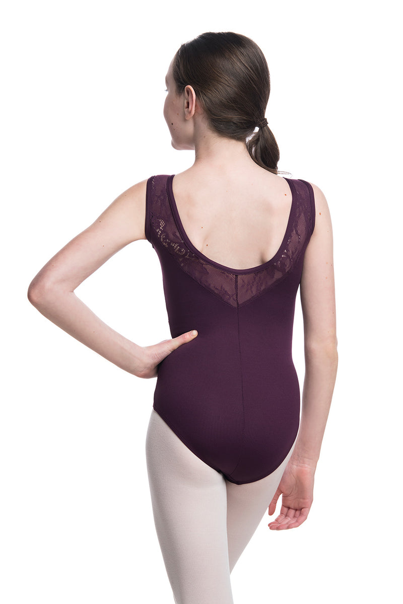 Girls Bianca Leotard with Kara Lace