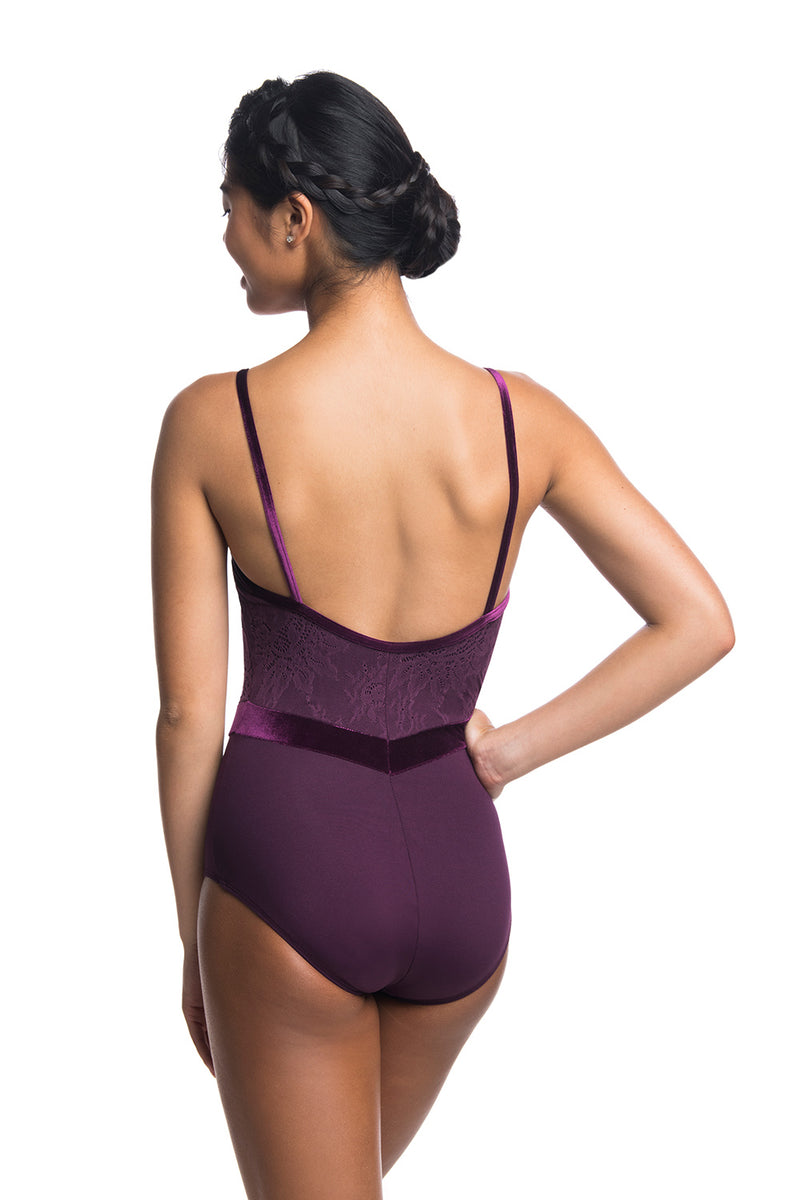 Jacq Leotard with Kara Lace & Velvet