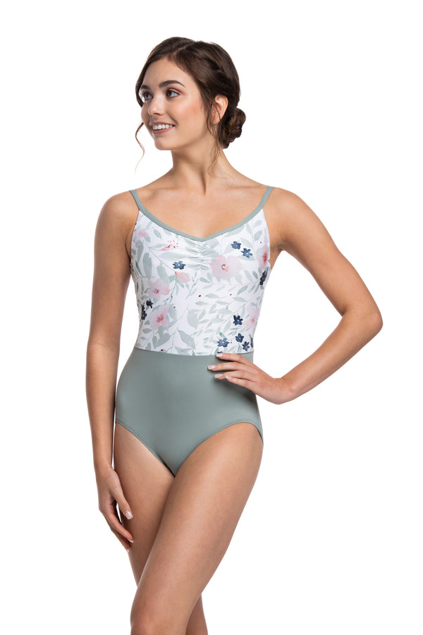 ★ Girls Liberty Leotard with Pastel Bloom Print