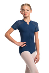 Girls Emily Leotard with Lola Lace
