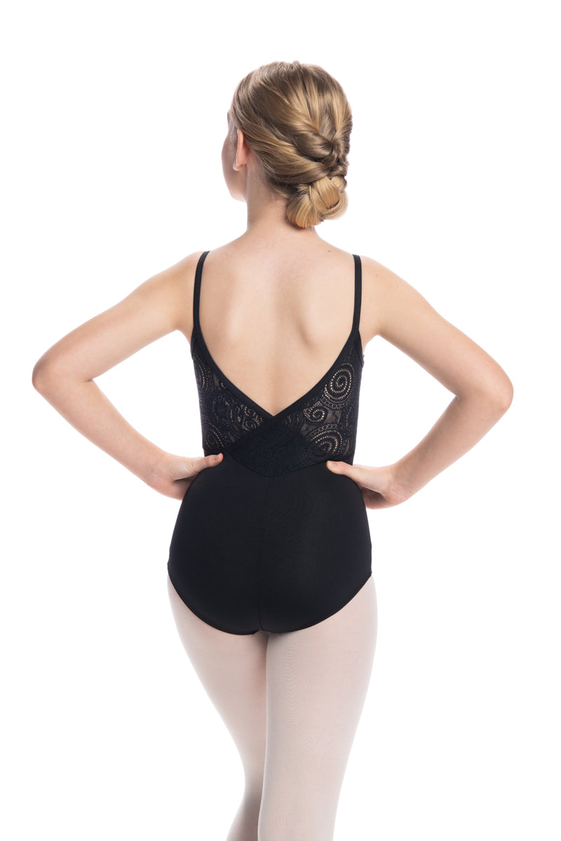 Girls Allegra Leotard with Lola Lace (136LL G)
