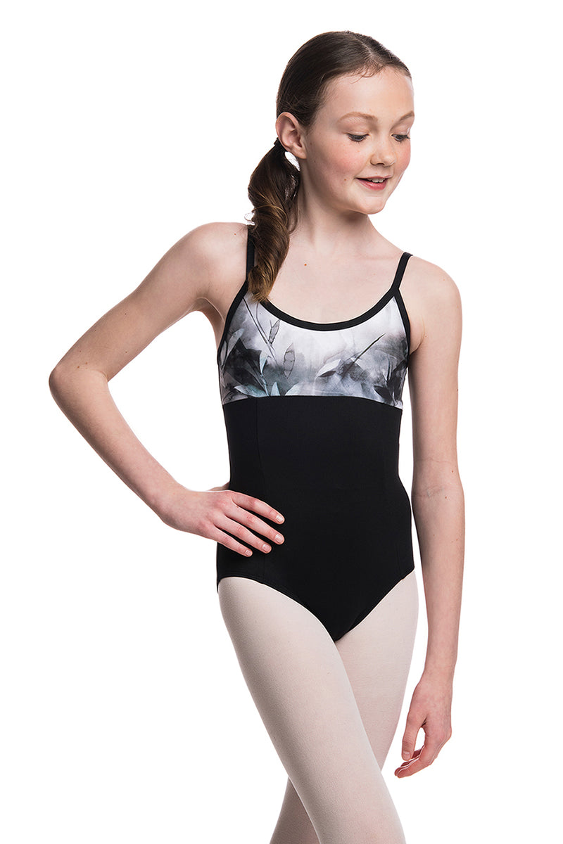 Girls Tara Leotard with Misty Watercolour Print