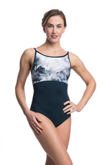 Sabrina Leotard with Misty Watercolour Print